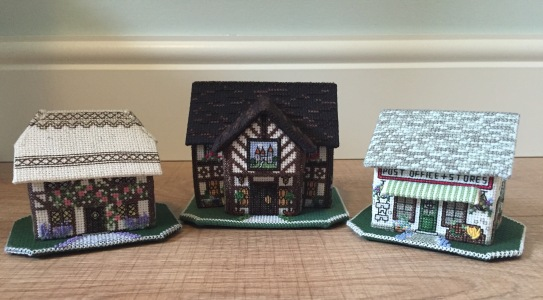 My three 3d miniature buildings