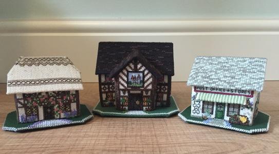 My three 3d miniature buildings