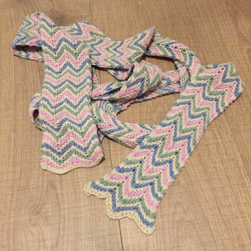 Painter scarf from Rowan Yarns Classic Art collection