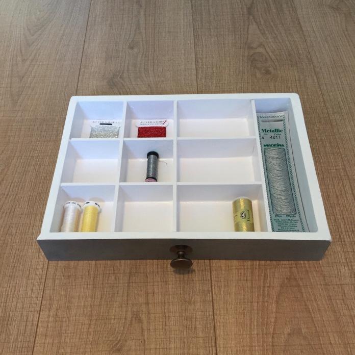 Metallic threads drawer