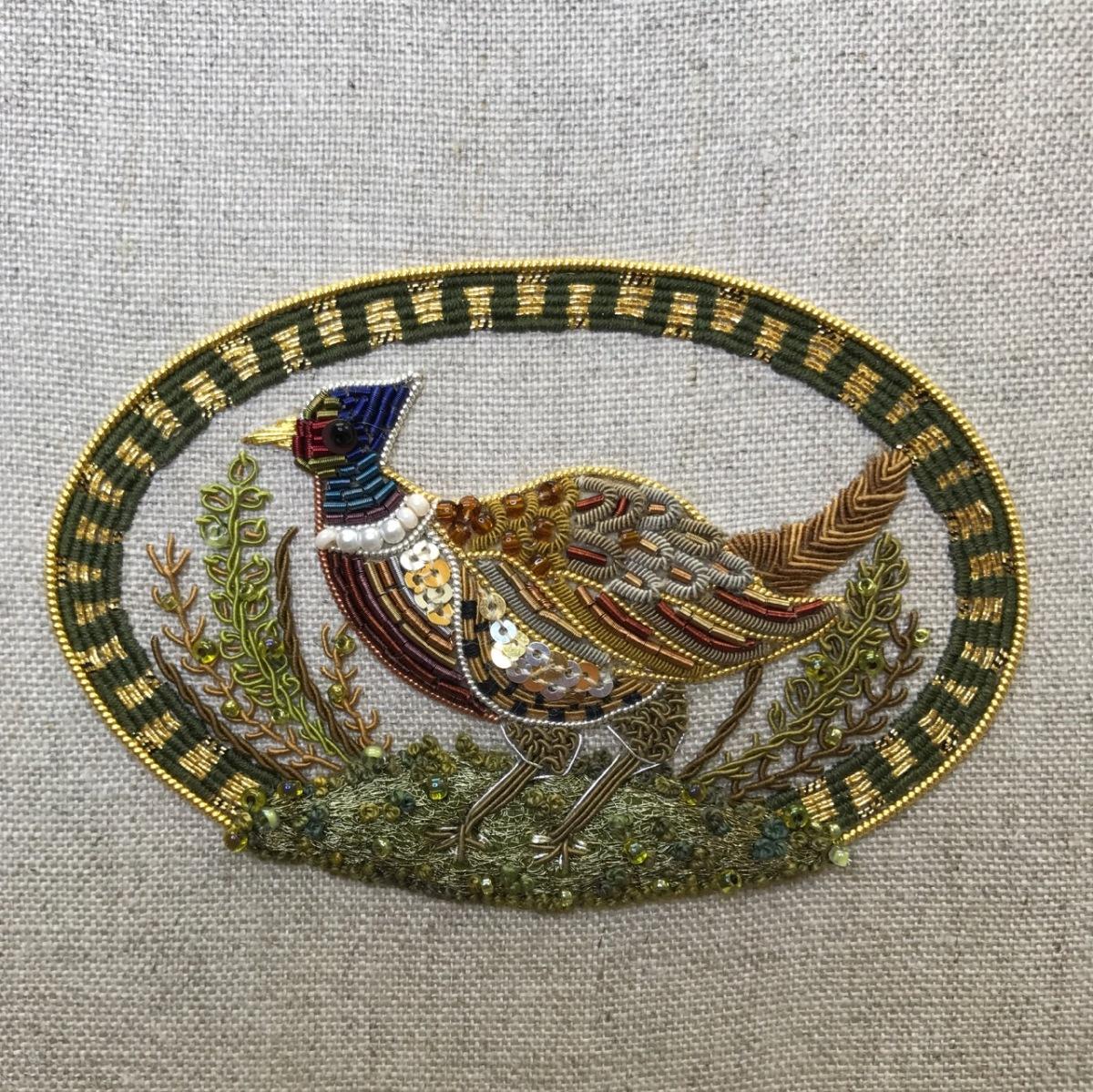 My goldwork pheasant