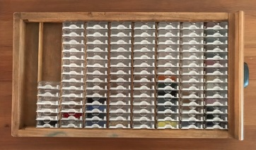 Mill Hill beads in bead storage solutions boxes