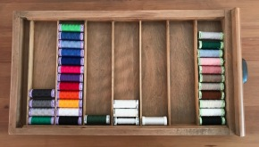 Top stitch, satin and other sewing threads