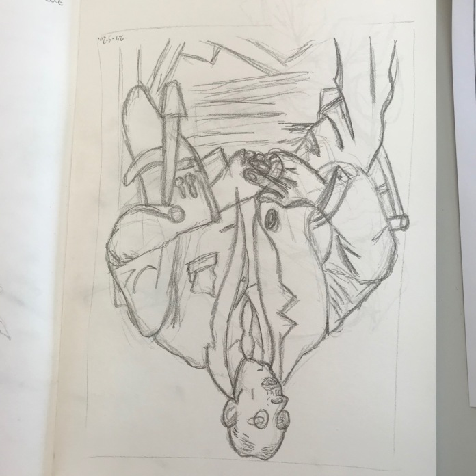 Upside down drawing