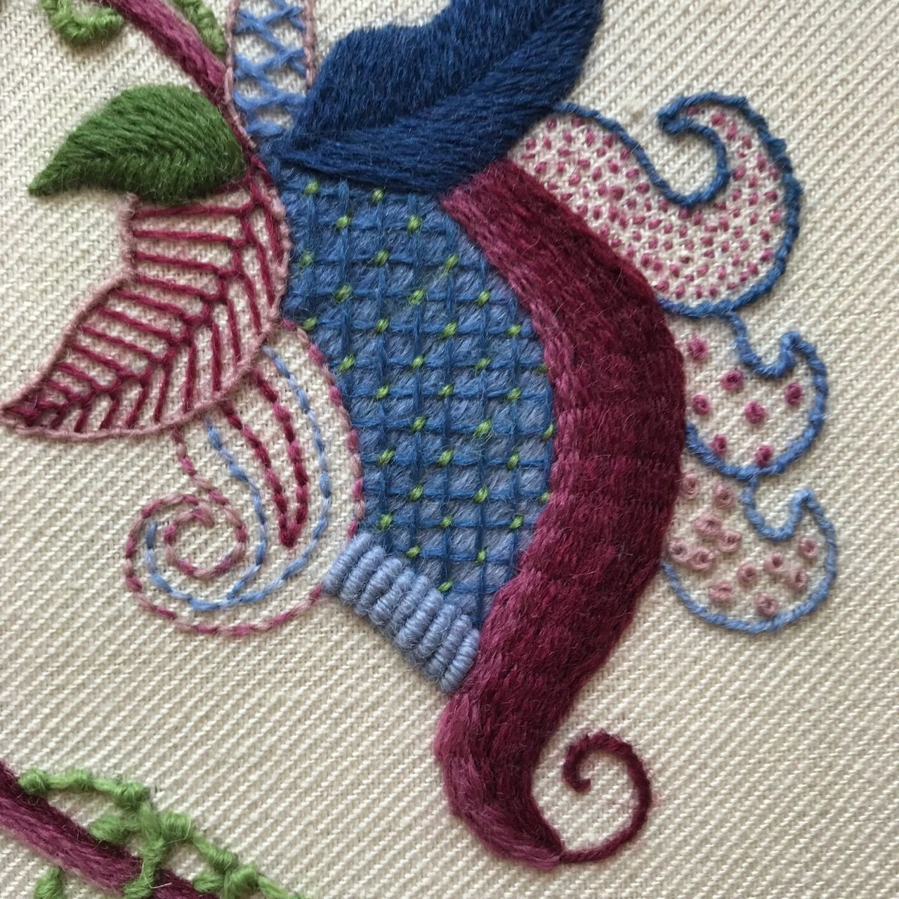 My Rsn Certificate Crewelwork Has Been Assessed The Stitching Sheep
