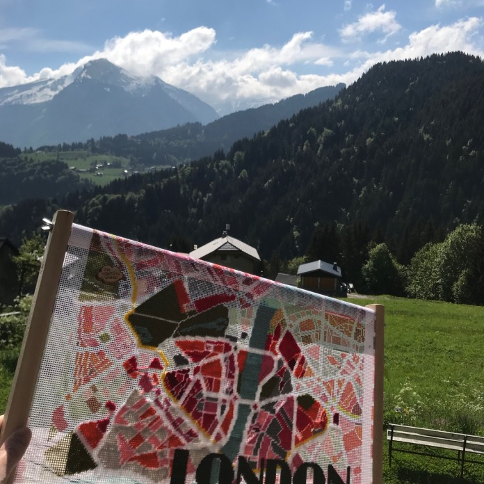 Stitching in the French alps