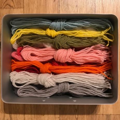 The wool I had left
