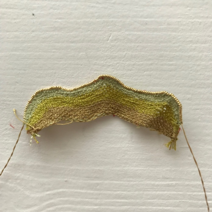 My first attempt at needlelace (for the hillock)