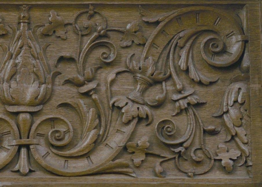 Detail of the woodcarving (picture by Rijksdienst voor het Cultureel Erfgoed)